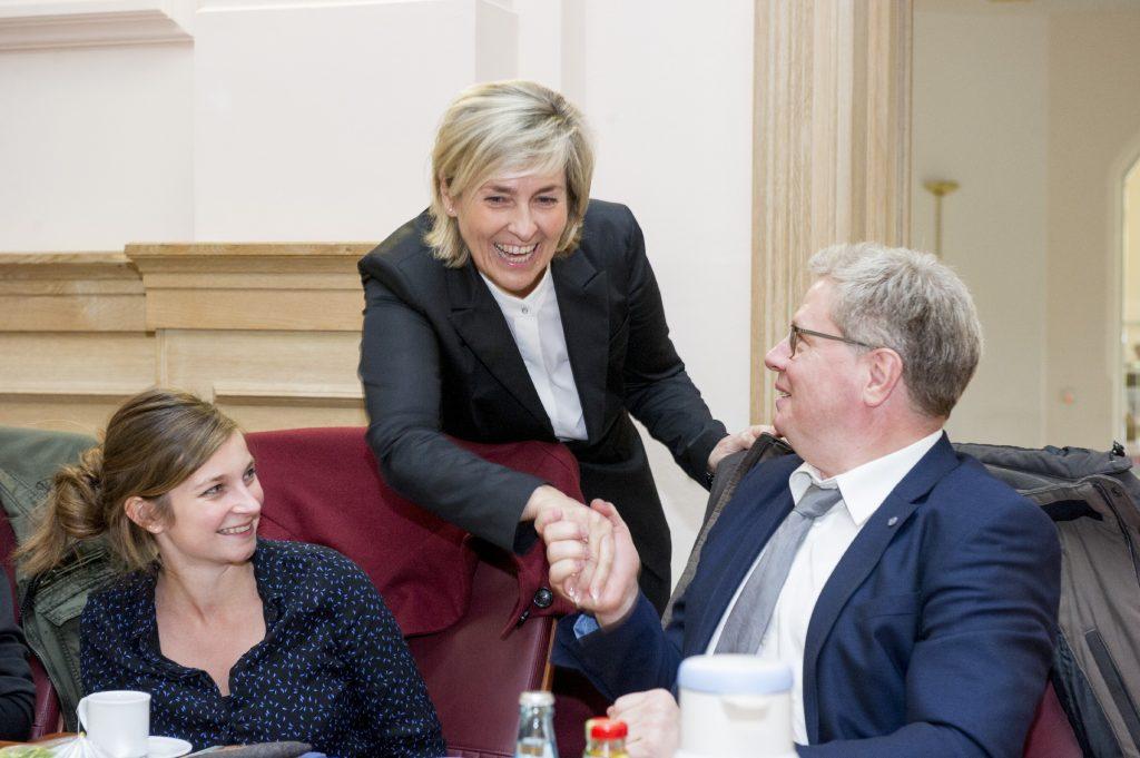 Intendantin Karola Wille begrüßte herzlich auch Prof. Dr. Thomas Kalisch, Direktor der Deutschen Zentralbücherei für Blinde in Leipzig.